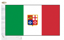 Italy Civil Ensign Courtesy Boat Flags (Roped and Toggled)